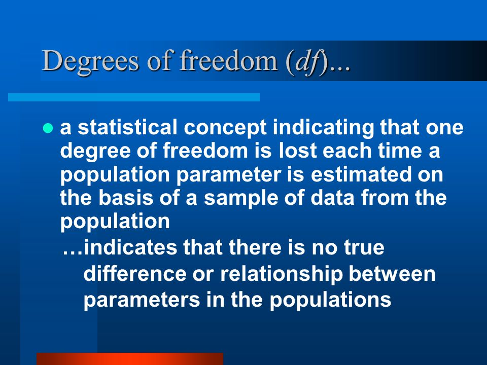 Degrees of freedom (df)...