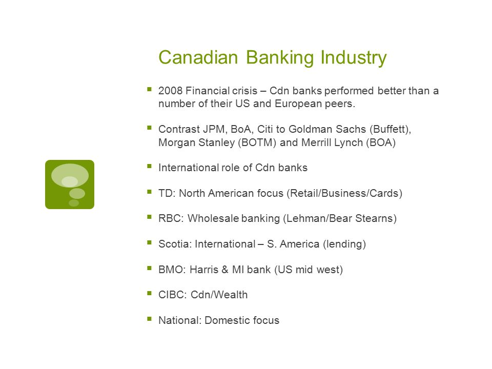 Canada S Banking Industry Ppt Download