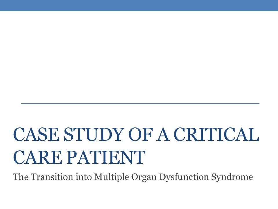 Nursing care in multi organ dysfunction syndrome