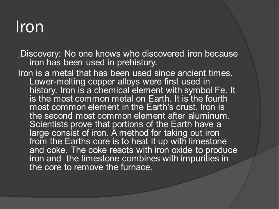 Who Invented Iron ~ By lara matic does a connection or relationship exist