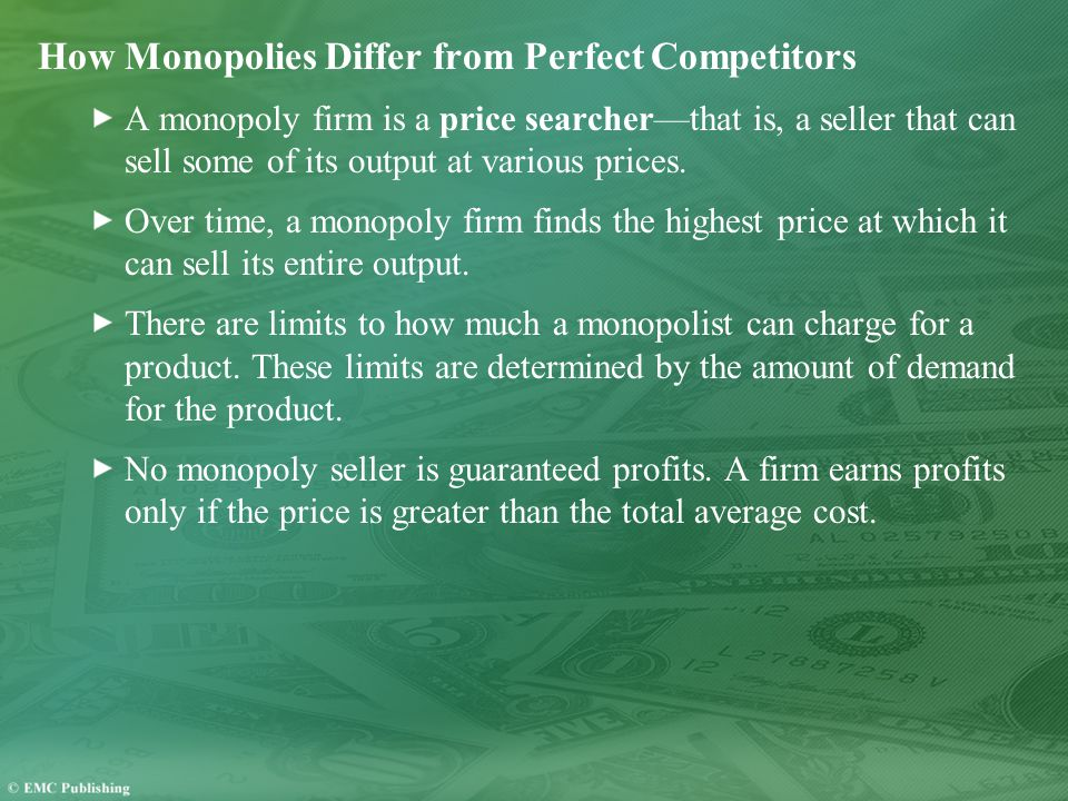 How Monopolies Differ from Perfect Competitors