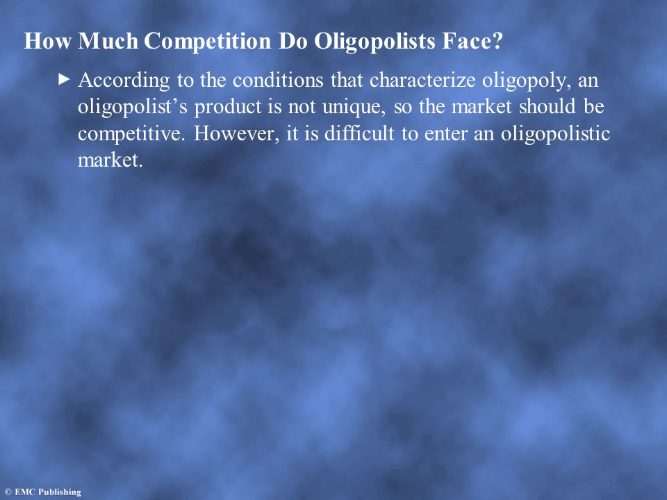 How Much Competition Do Oligopolists Face