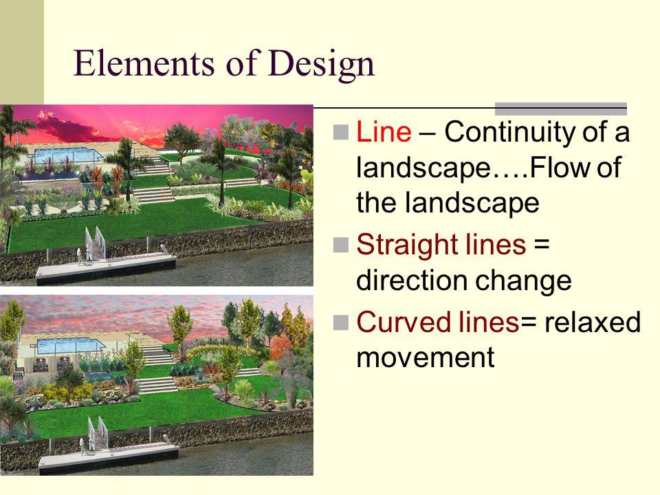 3 Elements Of Design : Design landscape remember elements principles components