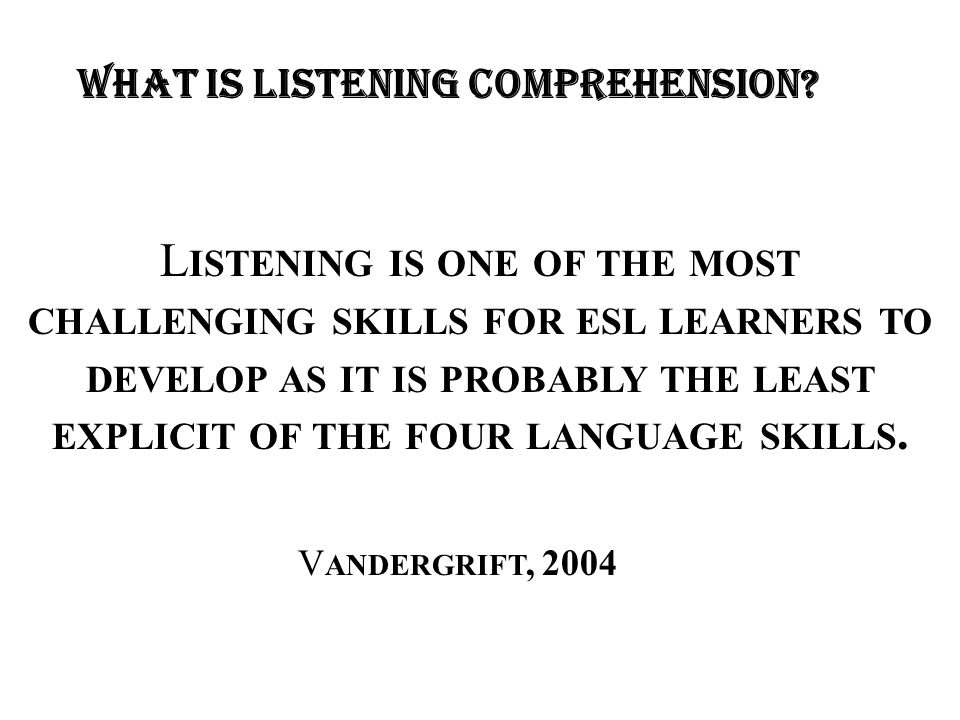 Listening Comprehension Practice Questions