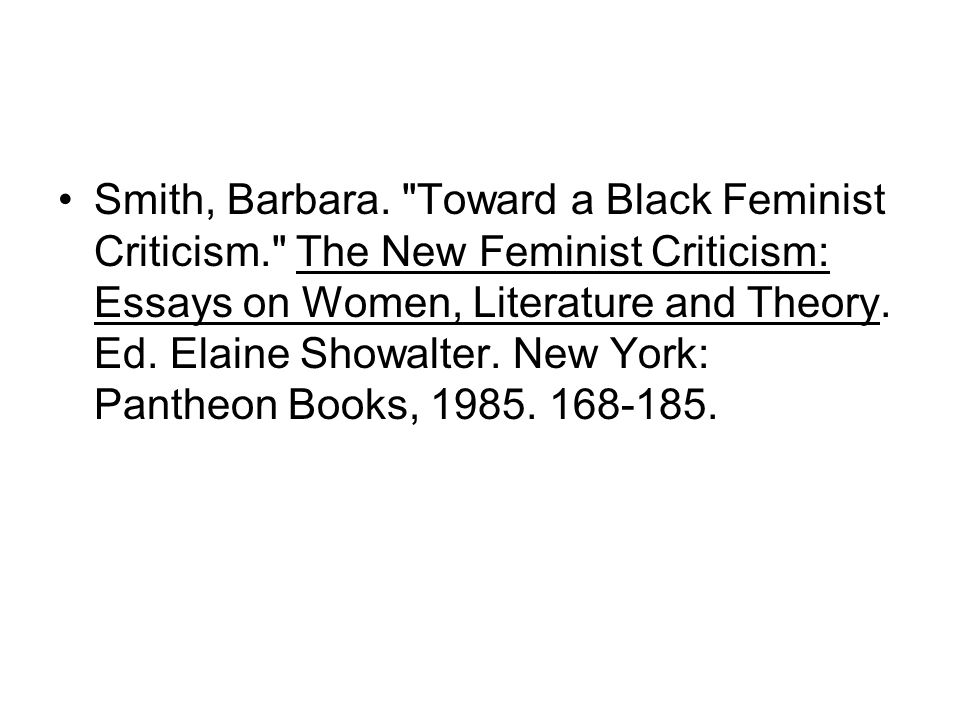 documentation ppt  toward a black feminist criticism