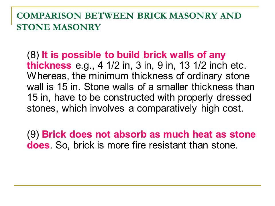 Building construction chapter 01 masonry ppt download for How much more does it cost to build a house