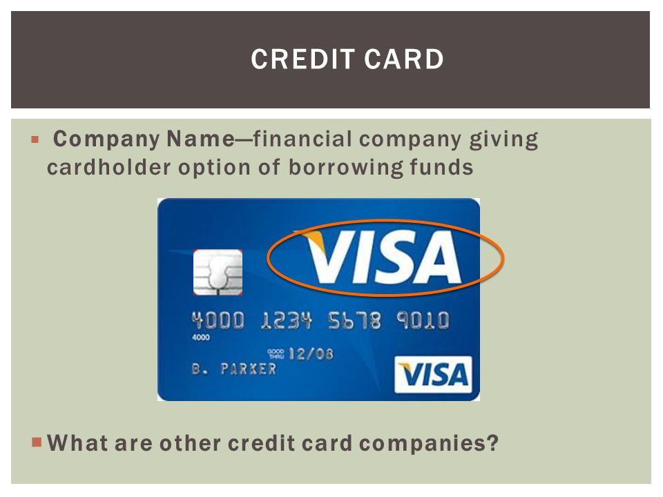 Credit Card What are other credit card companies
