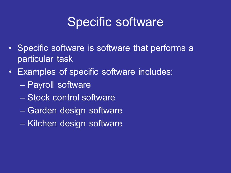 Selection And Use Of Appropriate Software Applications Software Ppt Download