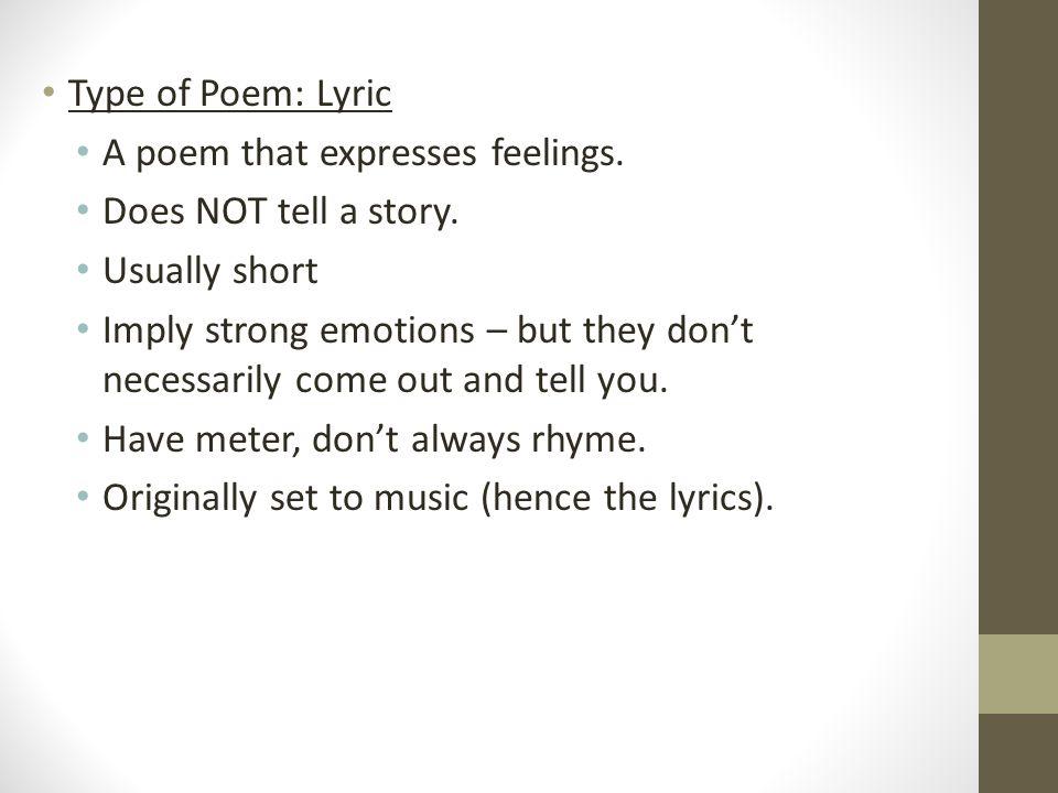 Lyric Poems. - ppt download
