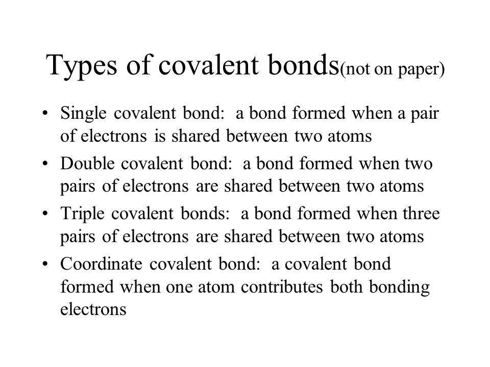 how to know what type of bond is formed