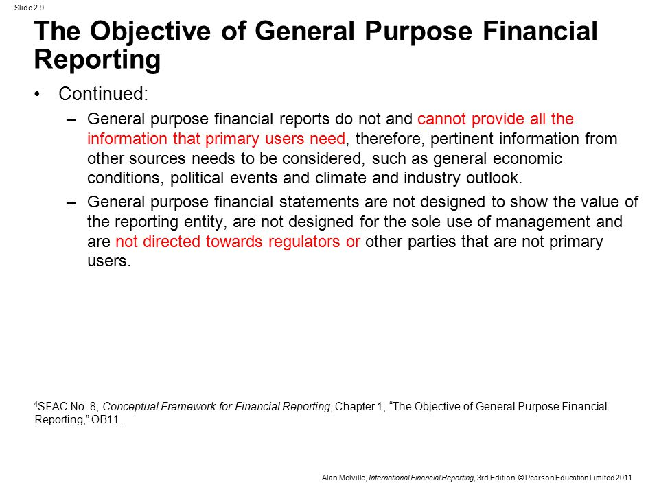 objectives of financial reporting pdf