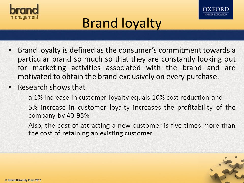 consumer behaviour brand loyalty Yuping liu (2007) the long-term impact of loyalty programs on consumer purchase behavior and loyaltyjournal of marketing: october 2007, vol 71, no 4, pp 19-35.