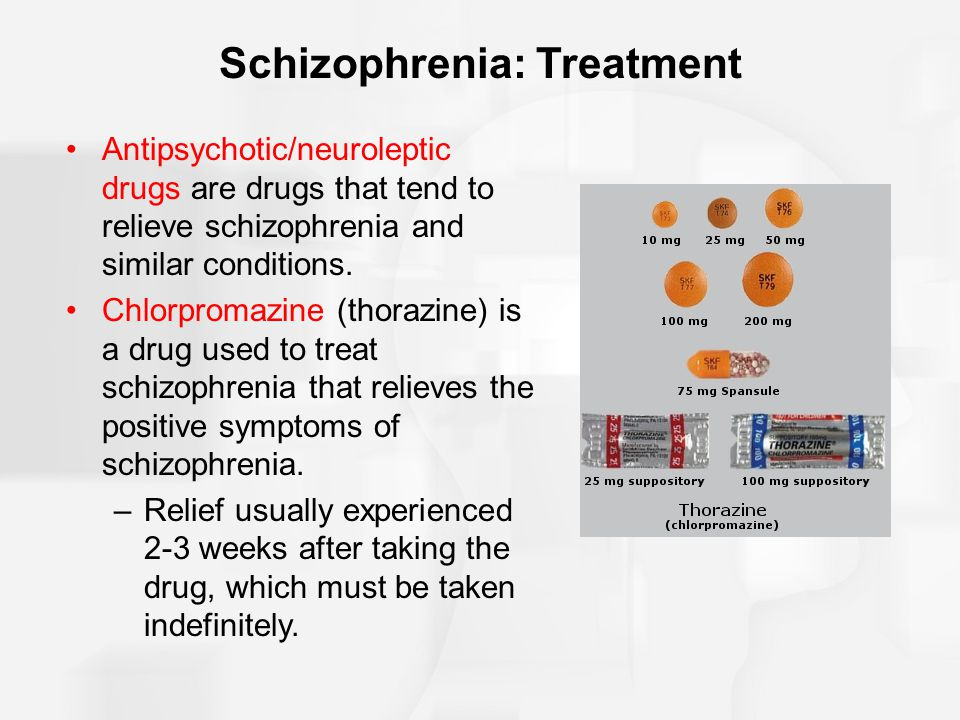 the symptoms and treatment of schizophrenia