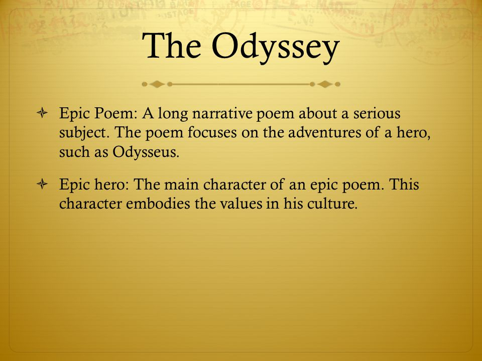 the transformation of odysseus through his journeys in the odyssey a poem by homer Get an answer for 'in the odyssey, how does the character of odysseus change from the beginning of his quest until the end' and find homework help for other the.