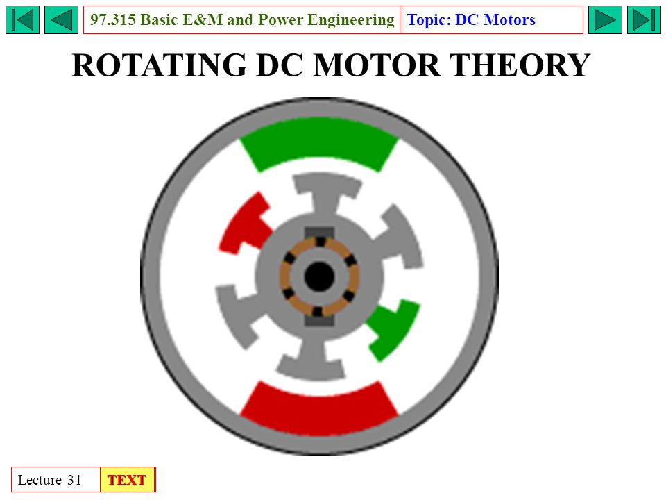 Rotating dc motor basic e m and power engineering ppt for M and m motors