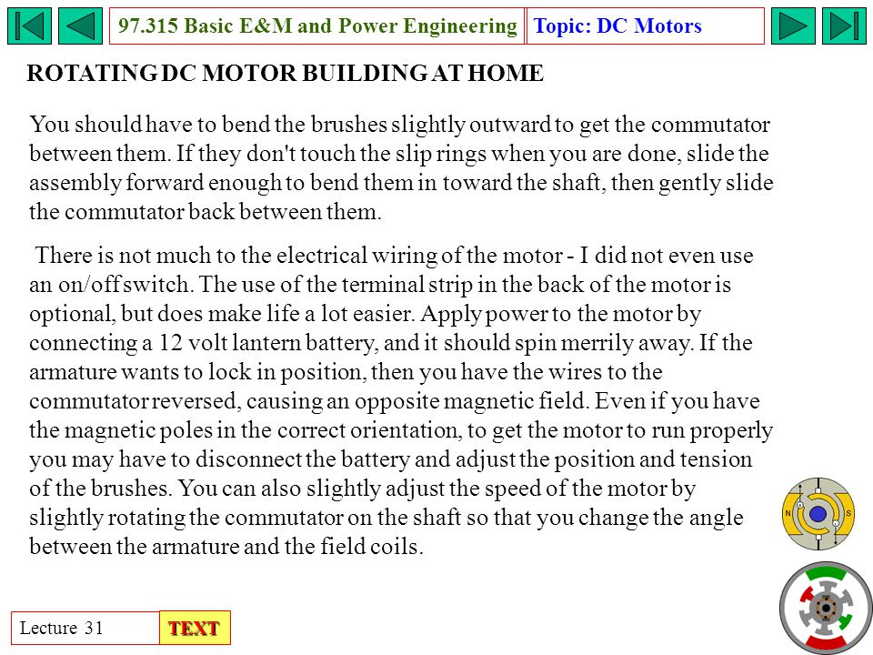 Rotating dc motor basic e m and power engineering ppt for How to vary the speed of a dc motor