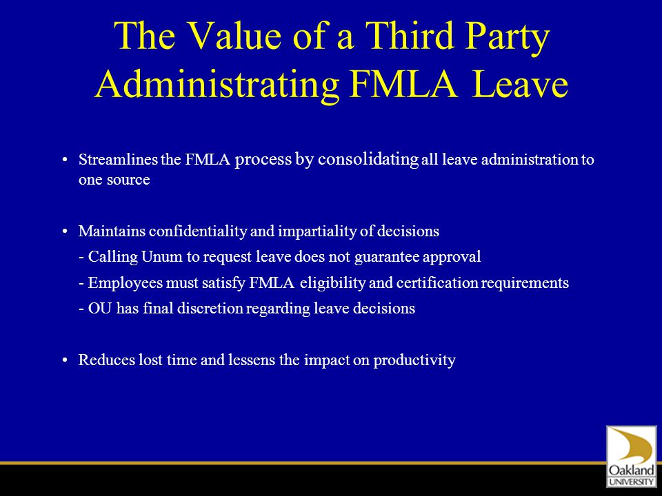 Fmla Leave Administration Staff Training Ppt Download