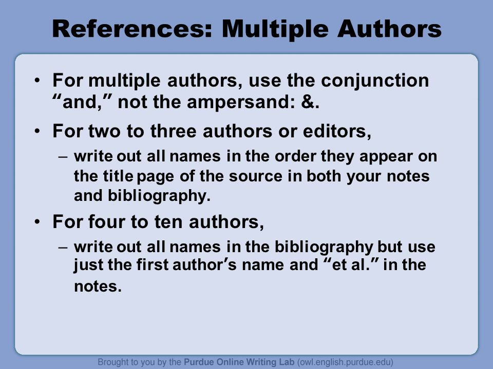 Annotated bibliography two authors example