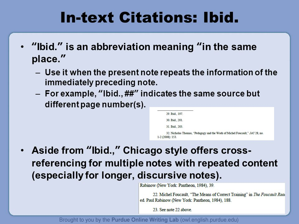 in text citations for chicago style