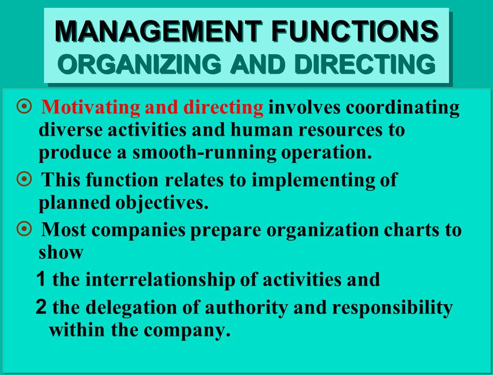 coordinating managerial function Management functions and process, management thought,  as managerial function,  this suggests the importance of coordinating as management function.