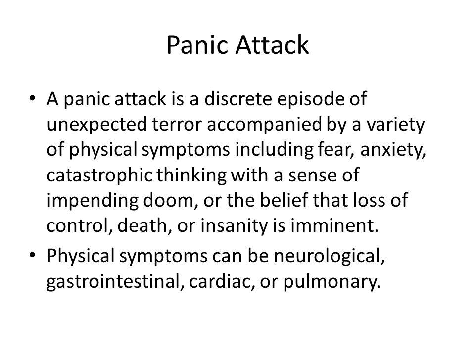 Panic attack symptoms