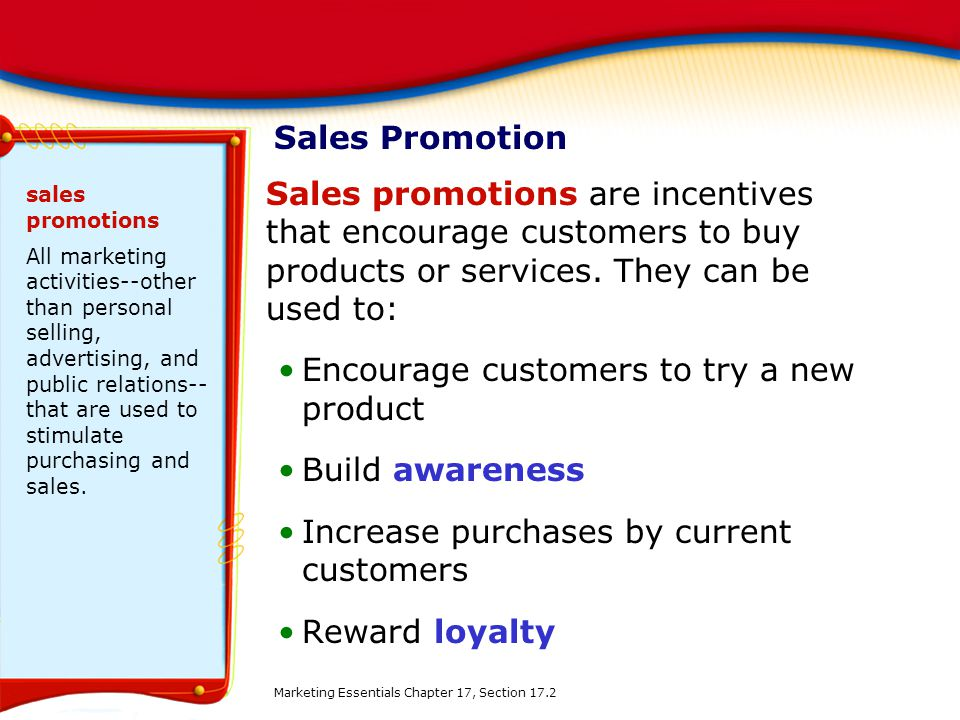 Encourage customers to try a new product