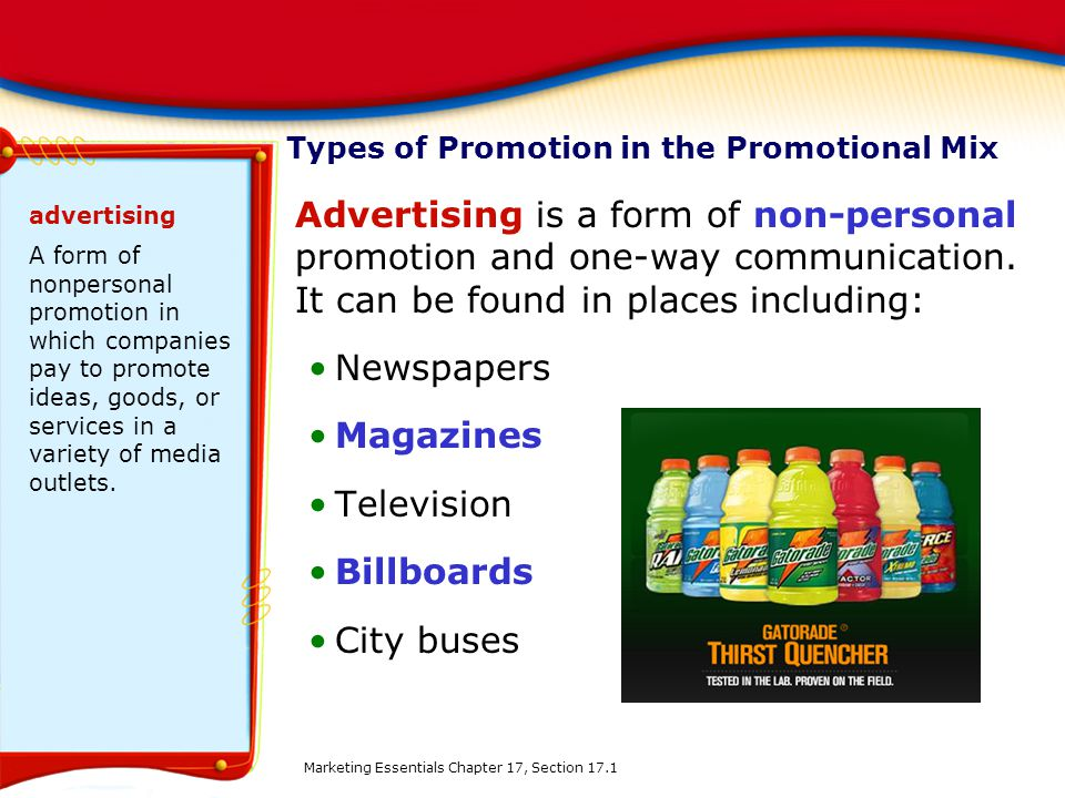 categories of a promotional mix Marketing mix – promotion (promotional strategy) april 24, 2015 october 19, 2016 mark acutt promotion is the part of marketing where you advertise and market your product, also known as a promotional strategy.