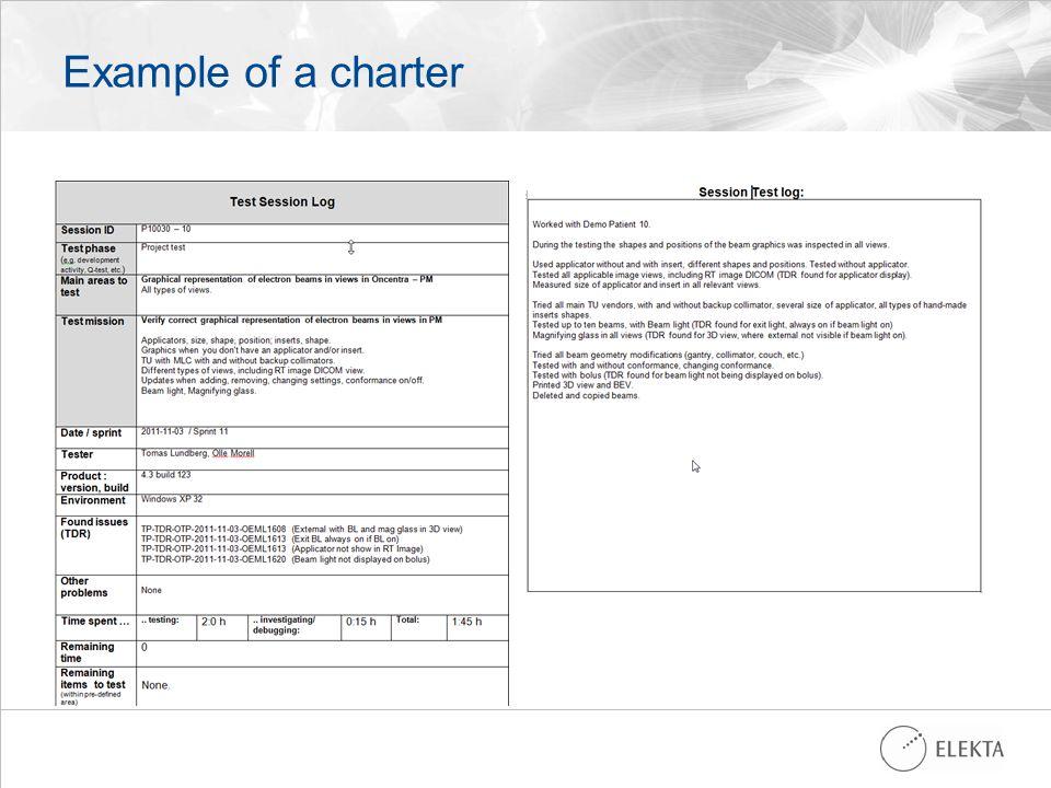test charter template - software testing in elekta ppt download