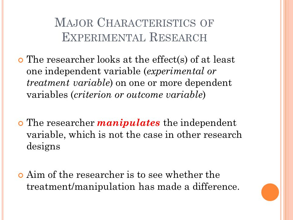 major characteristics of applied research Major characteristics of applied research characteristics of research research is a process of finding facts and arranging them in such a manner that information is obtained regarding any.