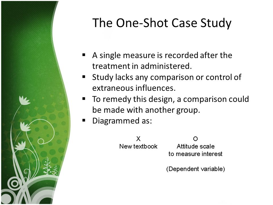 The One-Shot Case Study