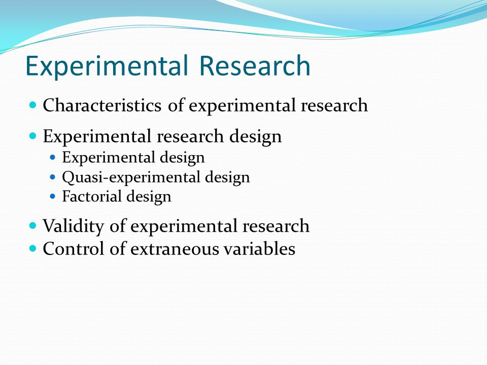 experiment research method