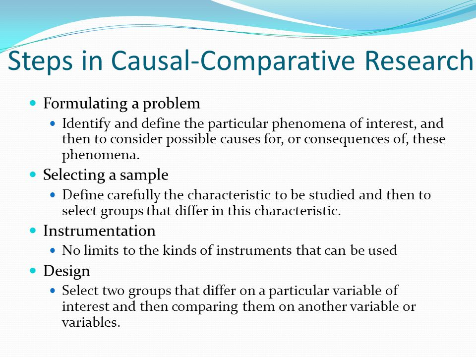 Use 'causal research' in a Sentence