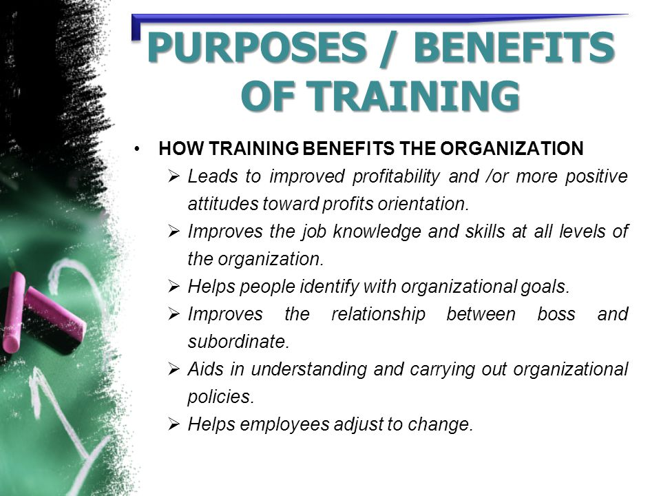 benefits of training to an organisation pdf