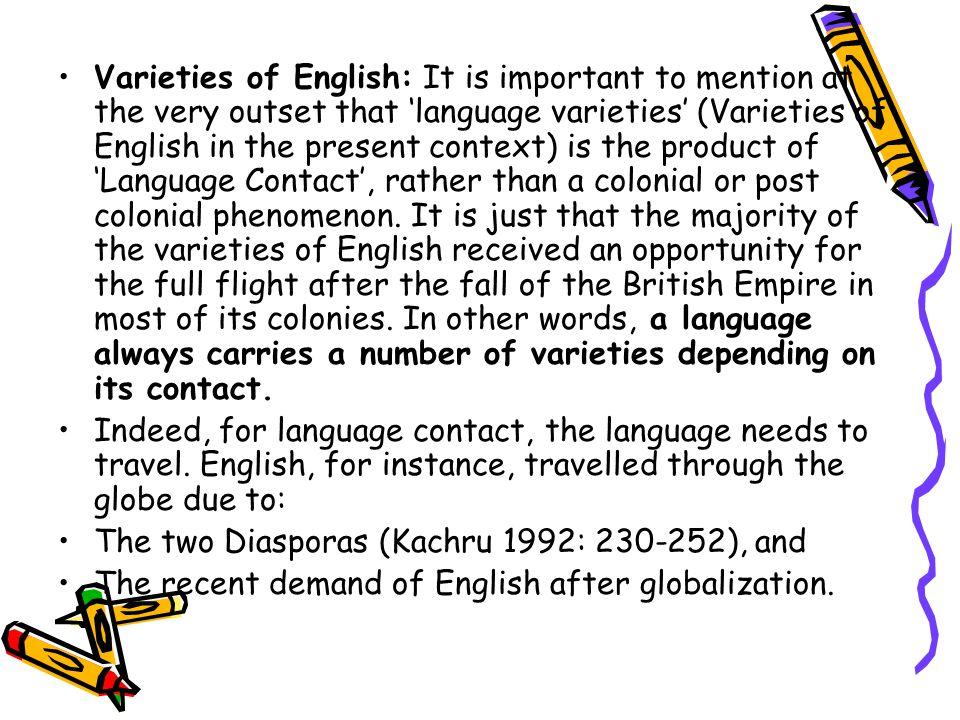 a varietes of english language