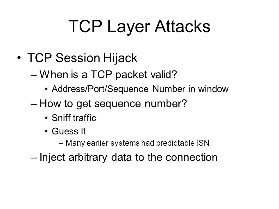 introduction to tcp ip network attacks pdf