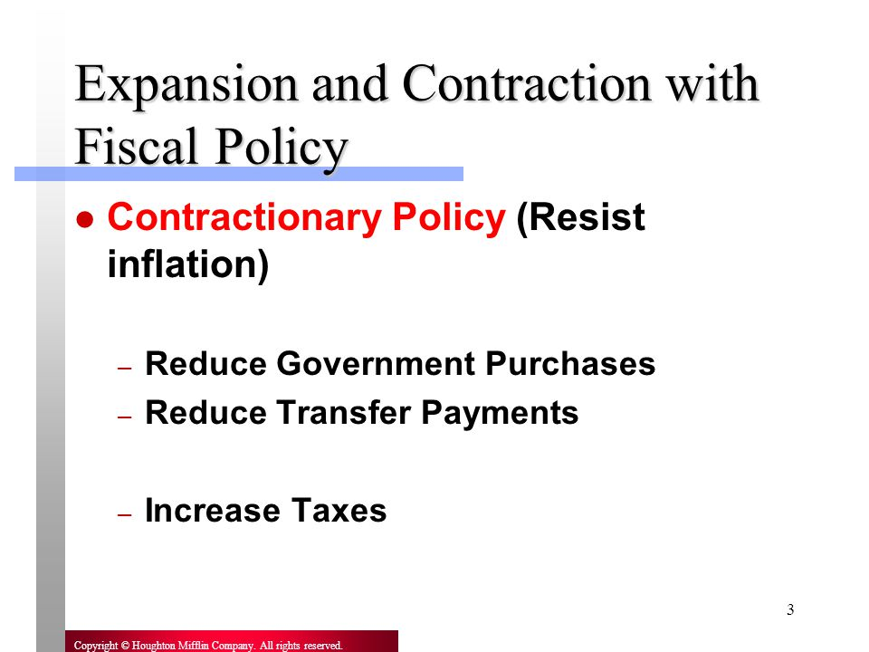 Expansion and Contraction with Fiscal Policy