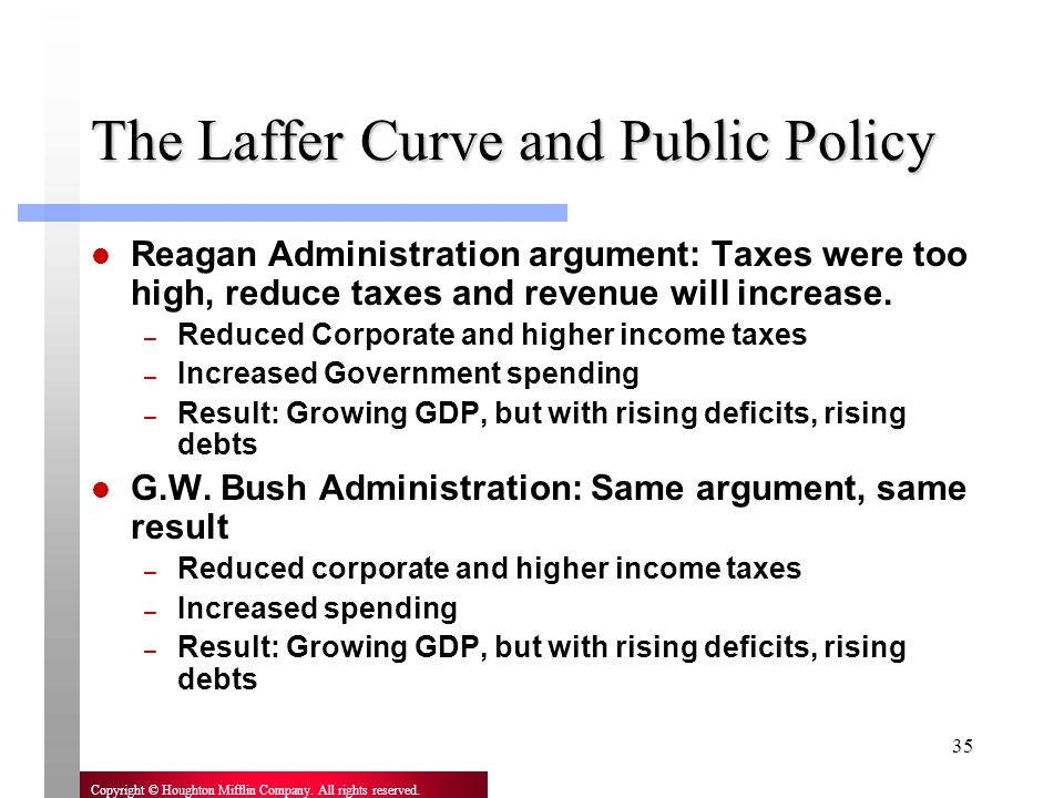 The Laffer Curve and Public Policy