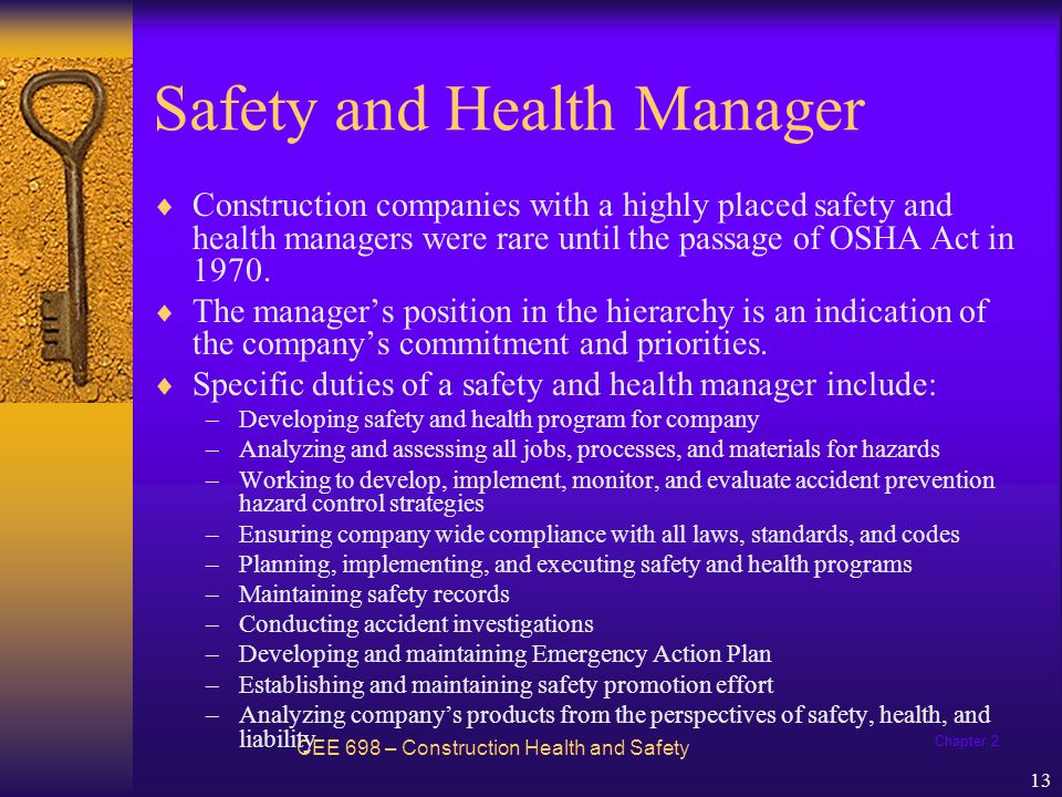 Safety and Health Manager