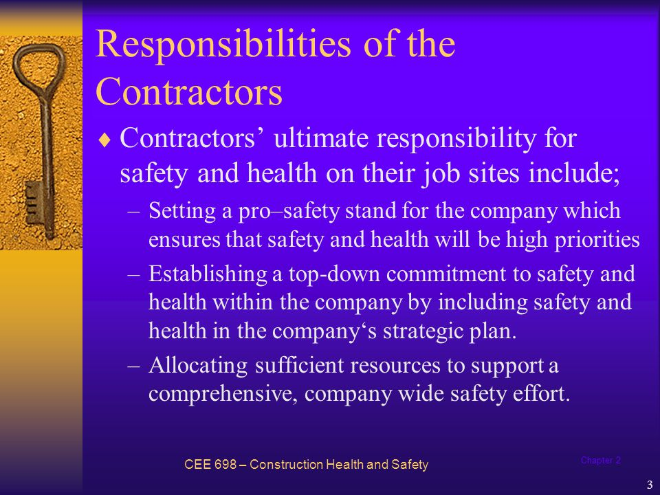 Responsibilities of the Contractors