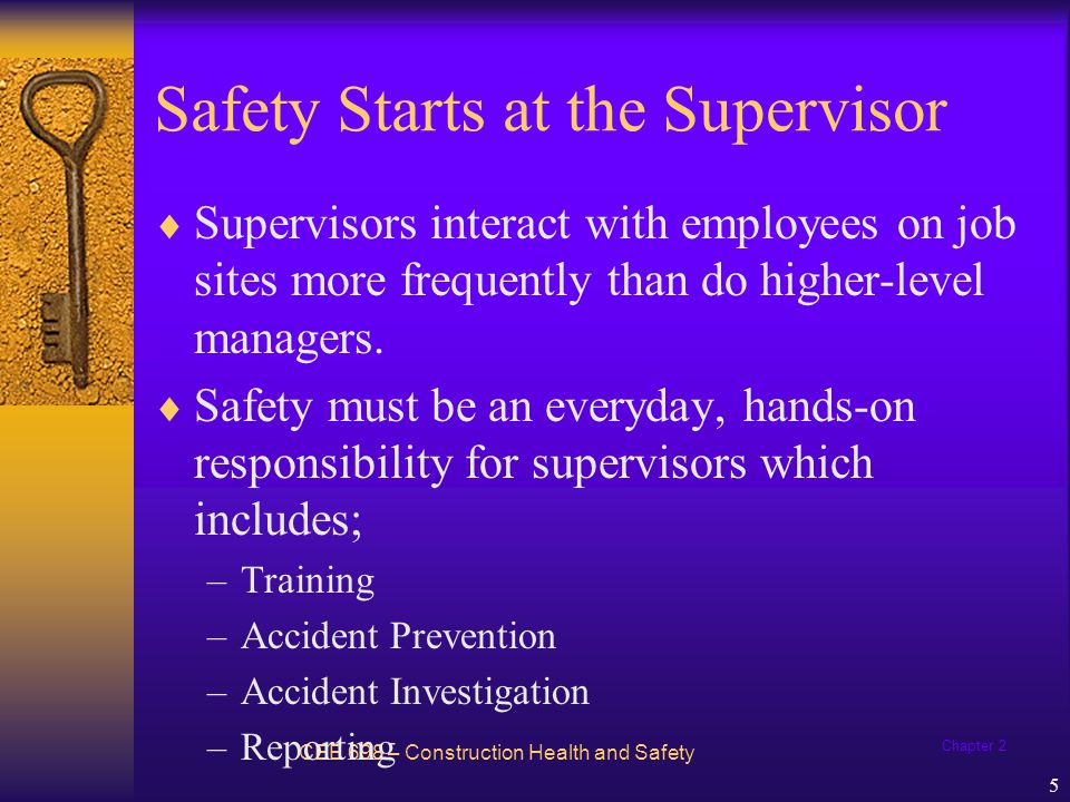 Safety Starts at the Supervisor