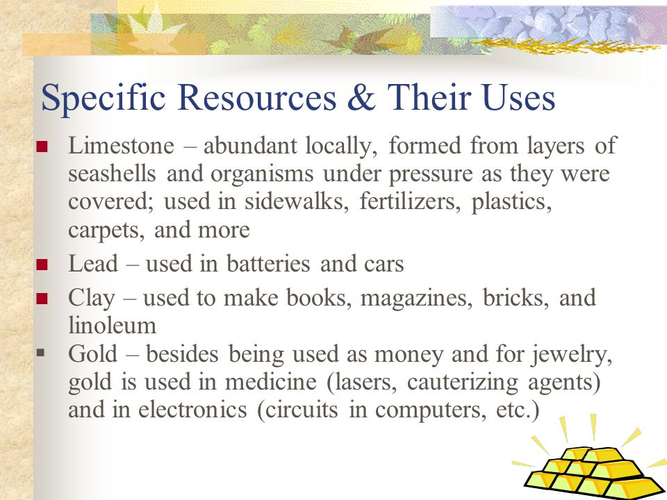 Uses For Gold Electronic : Environmental effects of using mineral resources ppt