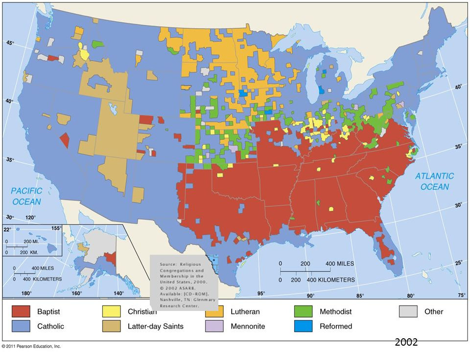 Religion And Migration Ppt Download - Religious map us