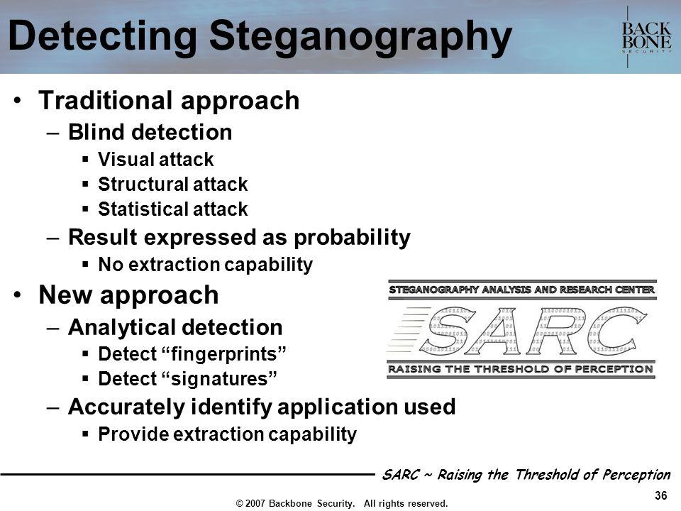 Detecting Steganography