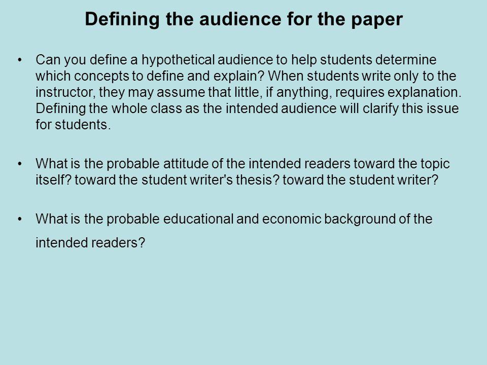 determining audience paper