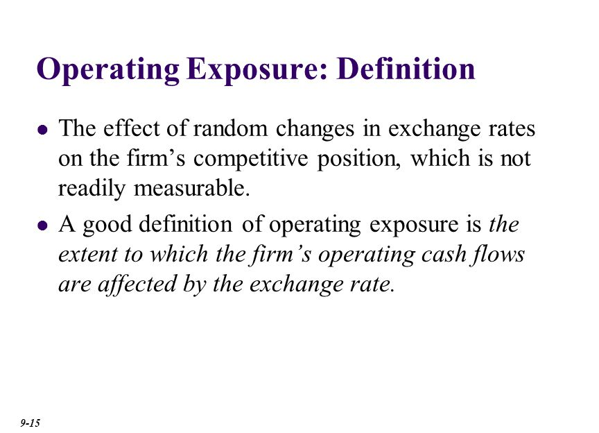 Marvelous An Illustration Of Operating Exposure