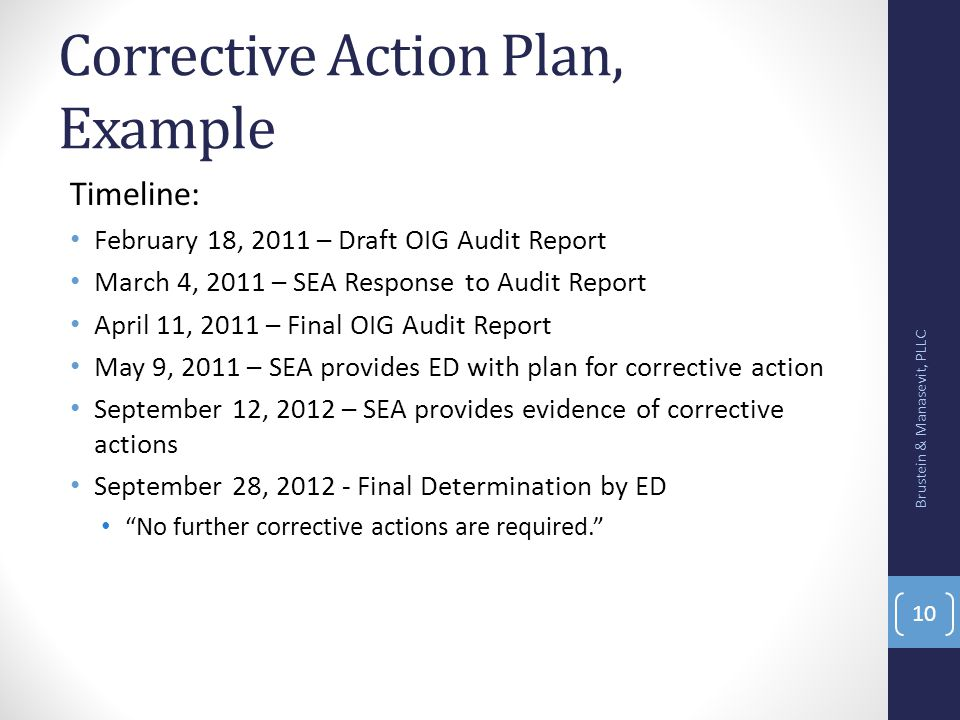 writing a corrective action plan