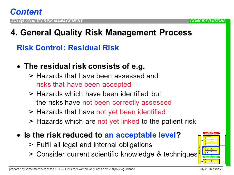 4. General Quality Risk Management Process