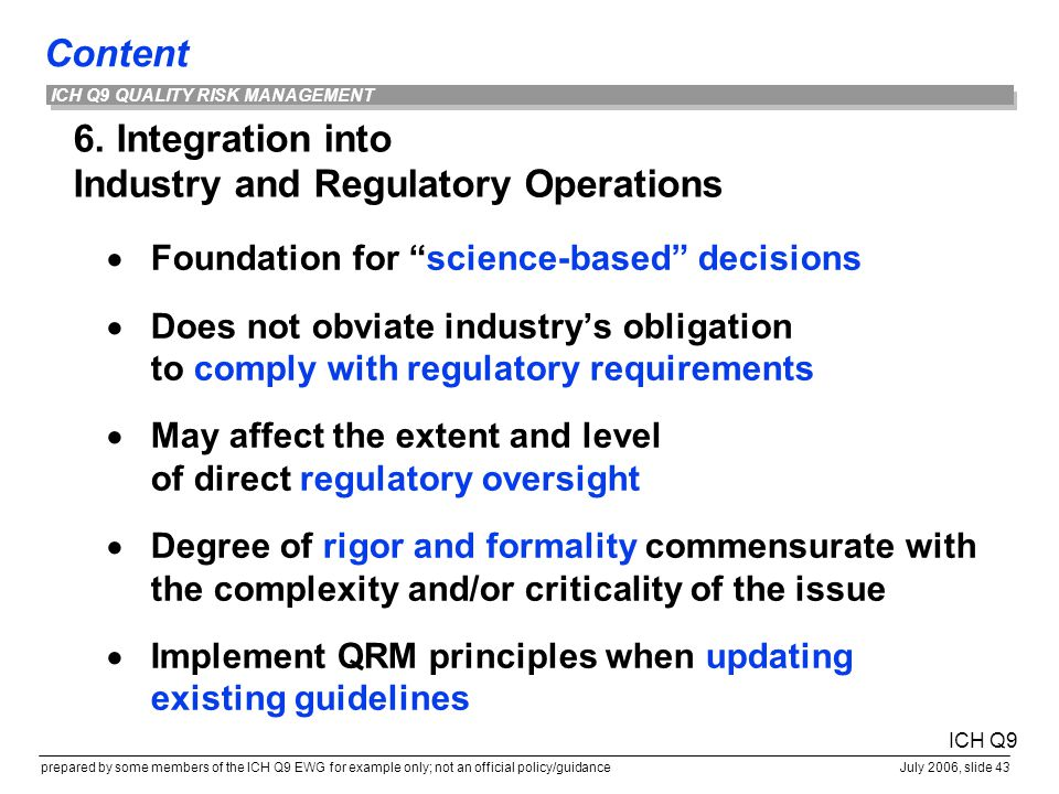 6. Integration into Industry and Regulatory Operations