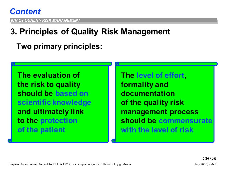3. Principles of Quality Risk Management