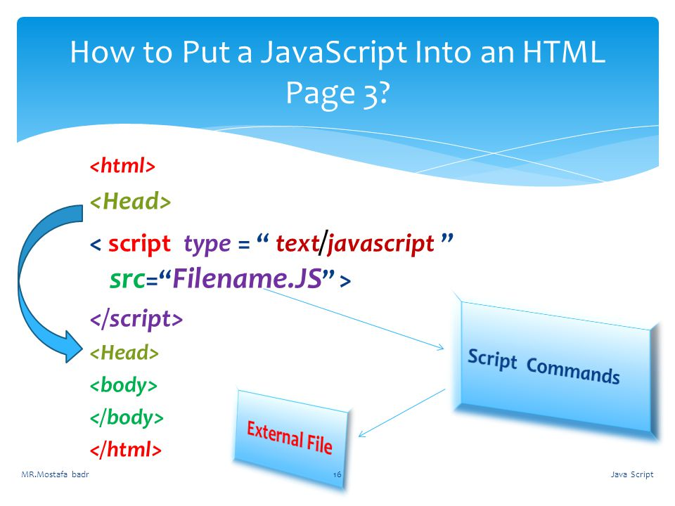 How to Put a JavaScript Into an HTML Page 3